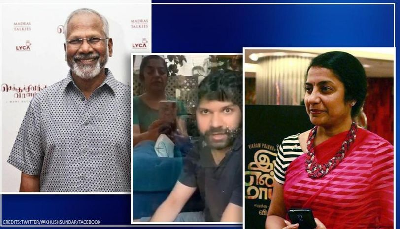Mani Ratnam's son in quarantine, talks with mom Suhasini via isolated room's window, watch