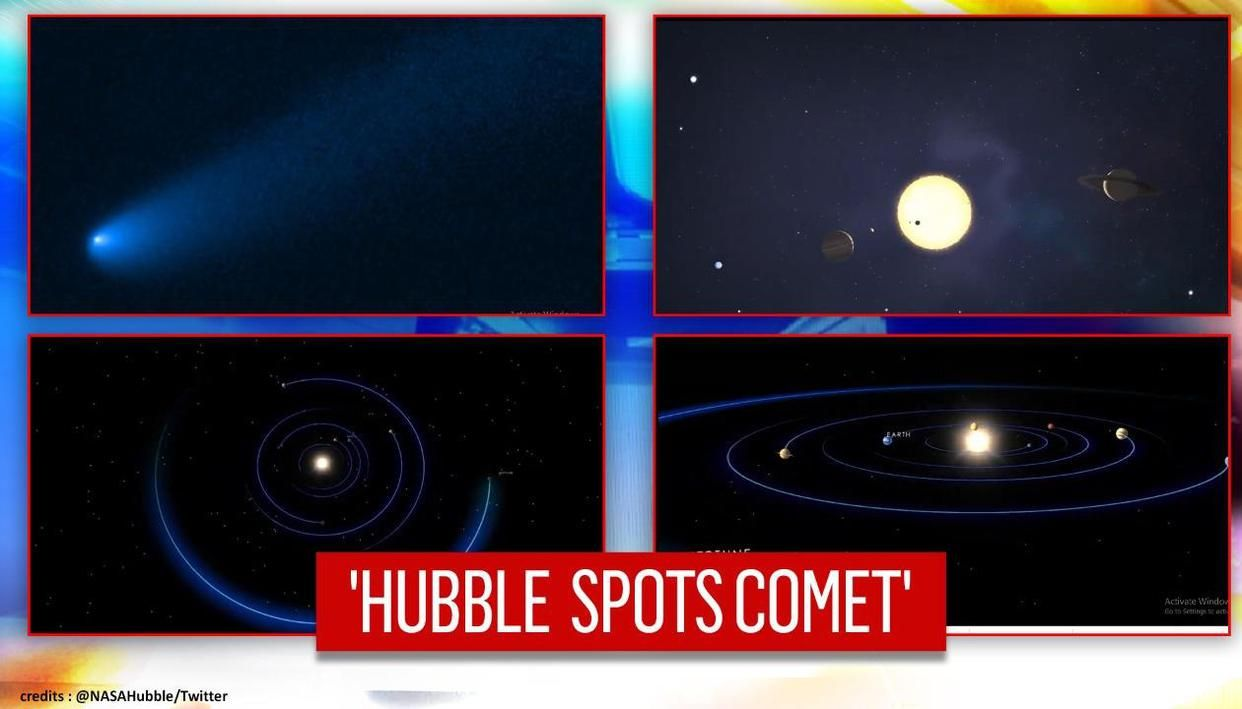 Video: Hubble spots comet that found 'temporary parking place' near Jupiter's asteroids