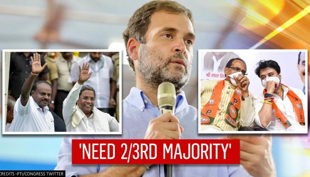 Rahul Gandhi says 'Congress must win 2/3rd majority' in polls to avoid BJP's govt toppling