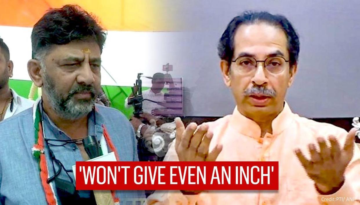 Sena-Congress tiff reignites over Karnataka-Maha border; DK Shivakumar slams Thackeray