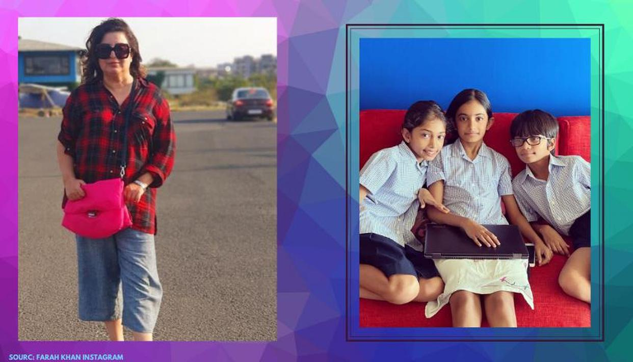 Farah Khan Tries To Bring Normalcy By Dressing Up Kids In Uniforms For Online Classes Republic World