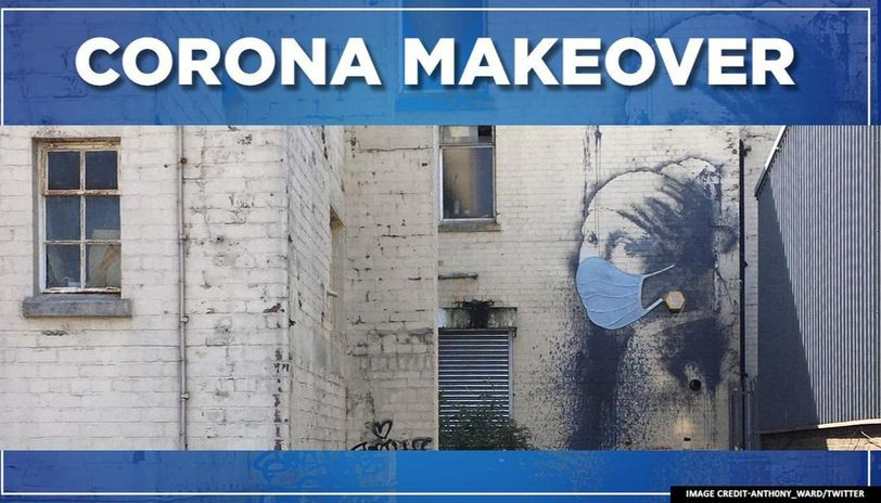 Banksy's famous 'Girl with a Pierced Eardrum' gets a corona makeover in the pandemic era