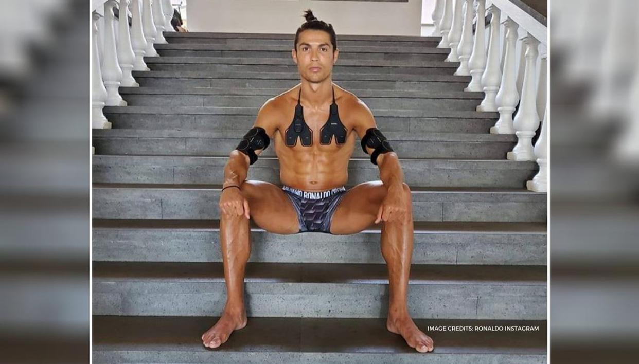Cristiano Ronaldo Continues To Promote Alleged Japanese Fitness Scam Sixpad Ab Belts
