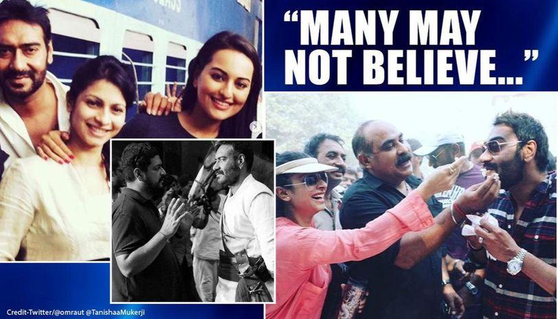 Ajay Devgn birthday: 'Tanhaji' director Om Raut posts BTS pic; Tanishaa has sweetest wish