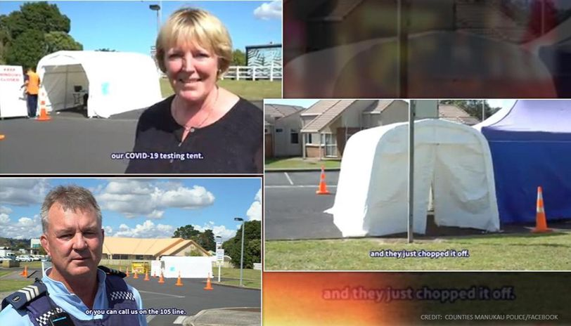 New Zealand: Cops advise thieves who stole COVID-19 tent to get tested