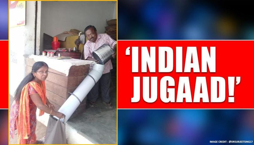 Kerala shopkeeper finds ingenious way to maintain social distancing