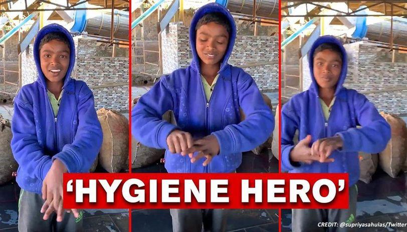 Coronavirus: kid from Ooty village demonstrates proper hygiene, watch