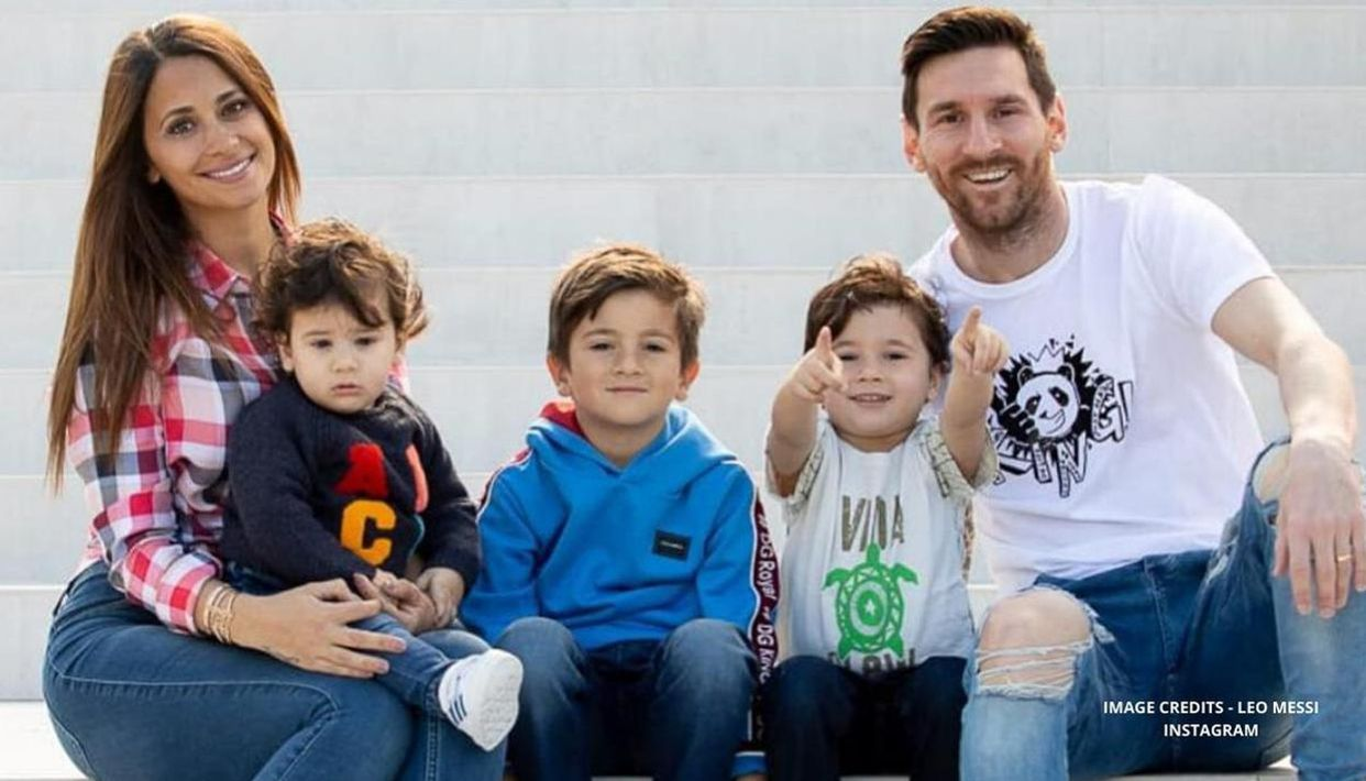 Lionel Messi plays card games, engages in fun fitness activities with wife  and kids: Watch