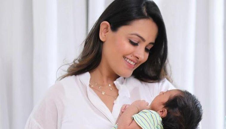 Anita Hassanandani recites Gayatri Mantra to her baby boy ...