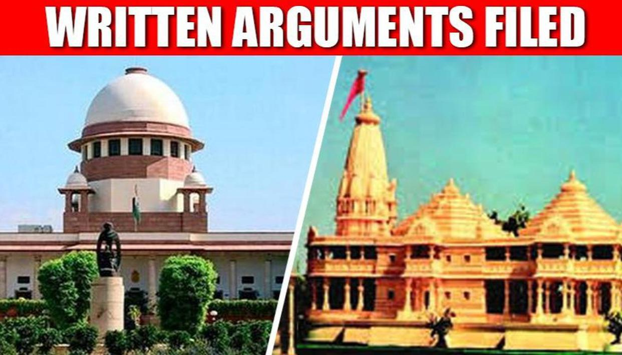 Ayodhya dispute: All parties submit written arguments to
