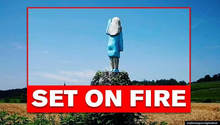 Melania Trump S Sculpture Removed In Her Hometown After It Was Set On Fire