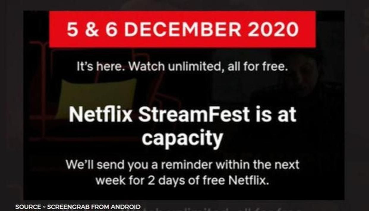 'Netflix Stream Fest is at capacity' message? How to get your 2-day free streaming