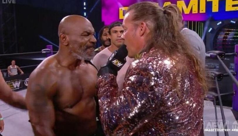 chris jericho vows to go after mike tyson after his exhibition bout vs roy jones jr exhibition bout vs roy jones jr