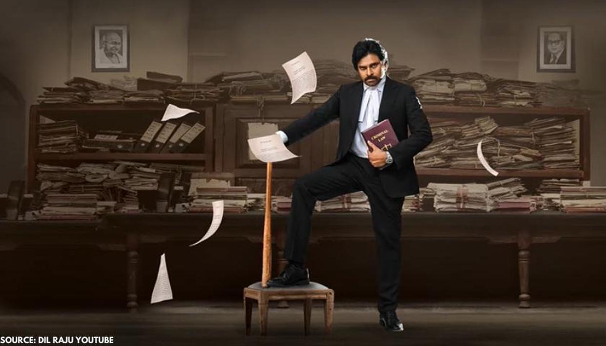Pawan Kalyan Looks Intense As Lawyer In 'Vakeel Saab' Motion Poster; Check  Out