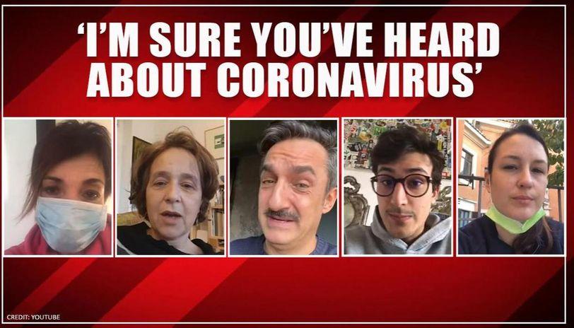 Coronavirus outbreak: Qurantined Italians record message for past self