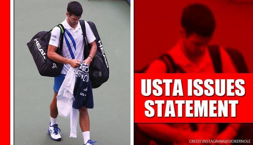 Us Open 2020 Usta Issues Statement On Default Of Novak Djokovic Republic World
