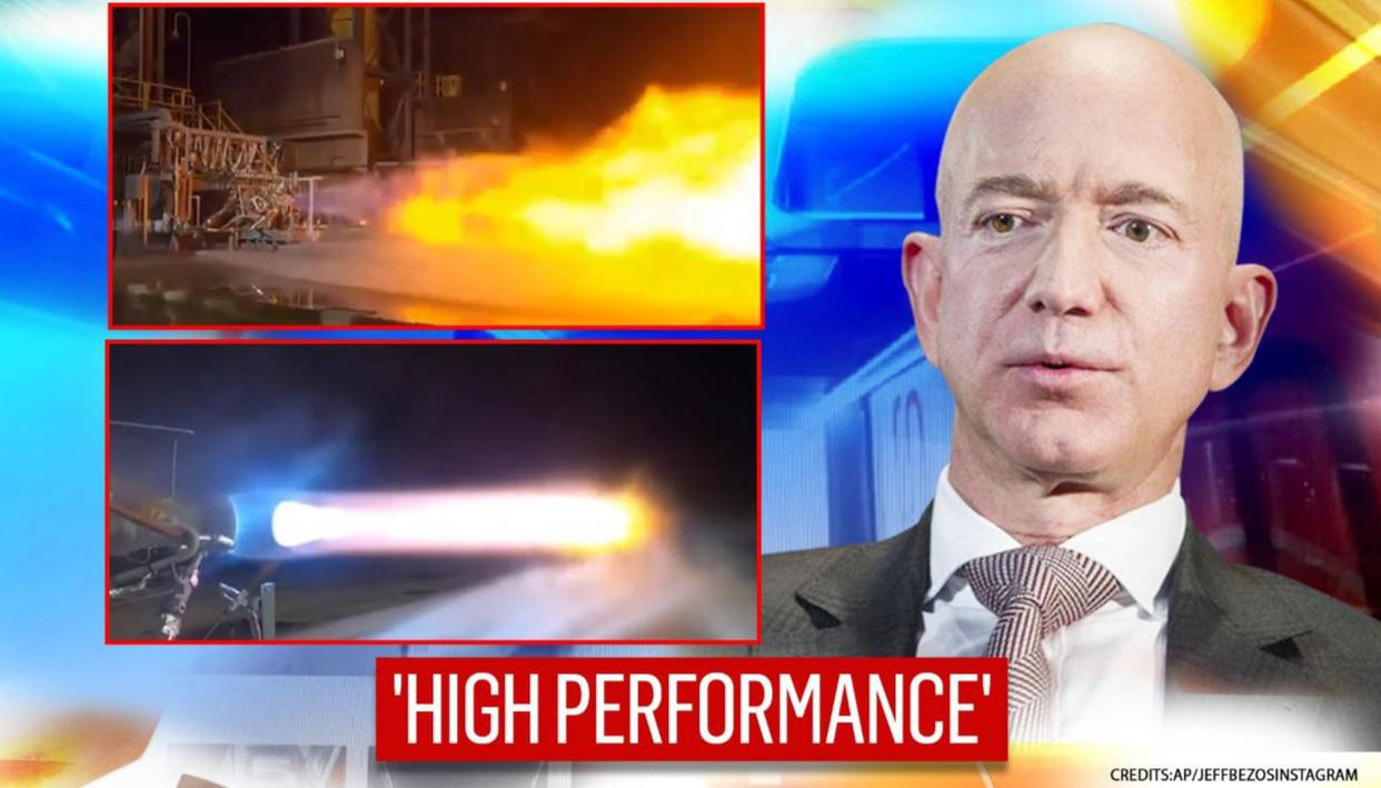 Jeff Bezos shows high-performance rocket engine that will take first woman to Moon | WATCH - Republic World