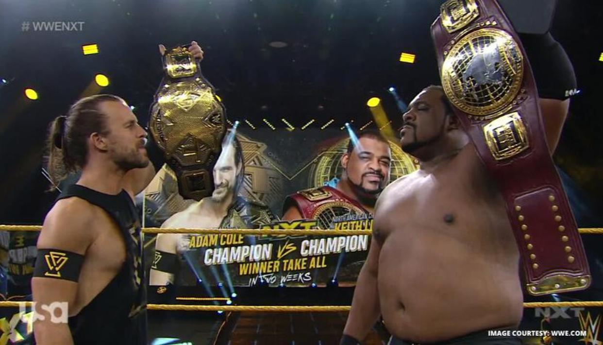 Keith Lee will face Adam Cole in two weeks for the NXT Championship.