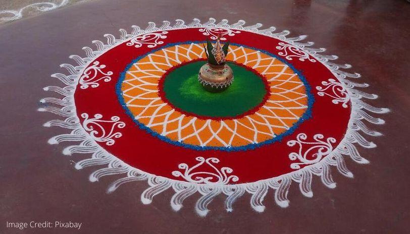 latest rangoli designs for ugadi