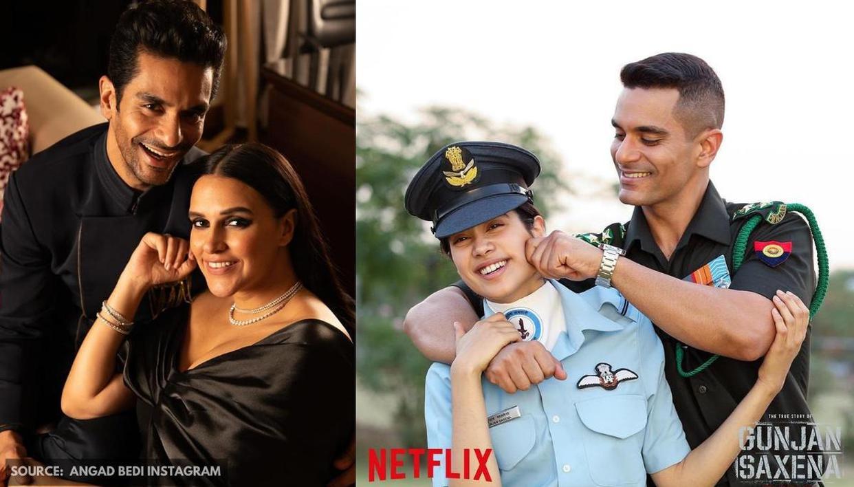 Neha Dhupia says she 'loved every bit' of husband Angad Bedi's film 'Gunjan Saxena' - Republic World