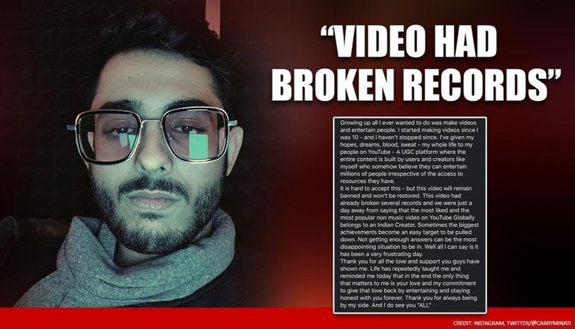 CarryMinati breaks silence after deletion of TikTok Vs YouTube video creates a storm