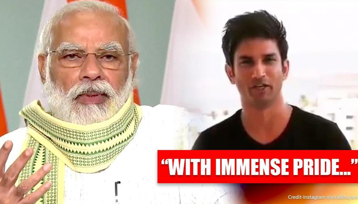 Photo of When Sushant Singh Rajput Recorded Special Message For PM Modi's Initiative & Birthday