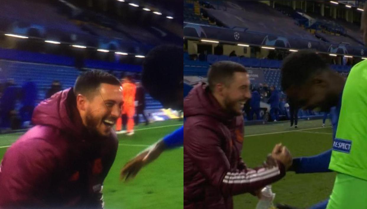 Eden Hazard heavily CRITICISED by Spanish media after laughing with ex- Chelsea teammates