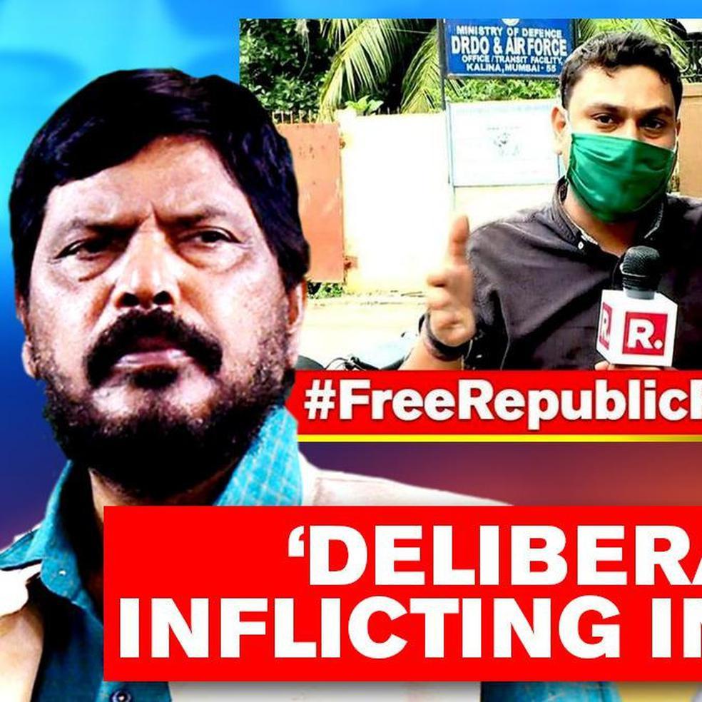 Union Minister Athawale Denounces Arrest Of Republic Crew Warns Maharashtra Government Republic World